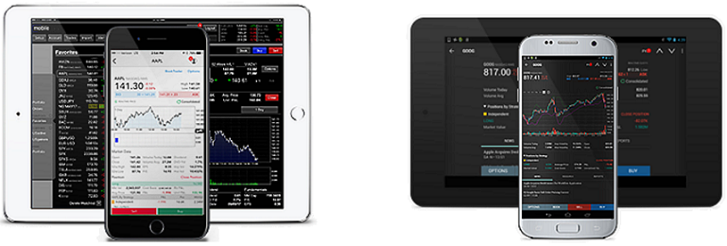 Mobile Trading Smart phones tablets