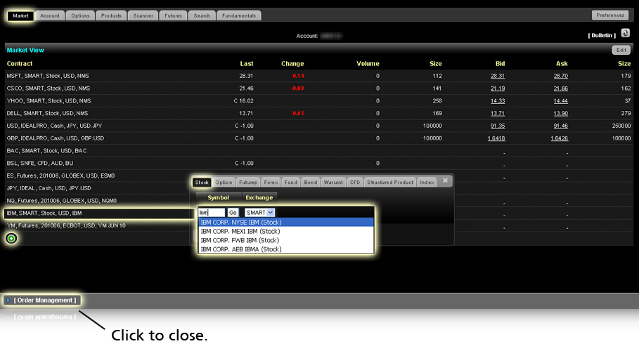 How to add real time market data to your online trading account.